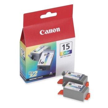 Мастило за Canon за Bubble Jet i80 - Cyan, Magenta, Yellow - 8191A002 - BCI-15 - 100к image