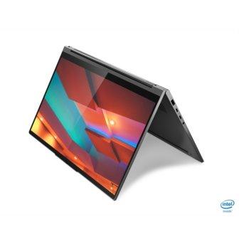 "Лаптоп Lenovo Yoga C940-14IIL (81Q9003HBM)(сив), четириядрен Ice Lake Intel Core i7-1065G7 1.3/3.9 GHz, 14"" (35.56 cm) 4K/UHD HDR 400 IPS 500nits Glossy Touchscreen Display, (Thunderbolt 3), 16GB DDR4, 1TB SSD, Windows 10  image"