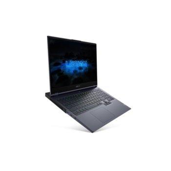 "Лаптоп Lenovo Legion 7 (81YT0031BM)(сив), шестядрен Comet Lake Intel Core i7-10750H 2.6/5.0 GHz, 15.6"" (39.62 cm) Full HD 240Hz Display & GF RTX 2080 8GB, (HDMI), 32GB DDR4, 1TB SSD, 1x USB-C, Free DOS  image"