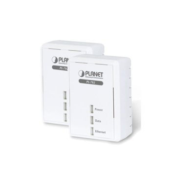 Powerline адаптер Planet PL-751-EU, 500Mbps(powerline)/100Mbps(Ethernet), 1x 10/100Base-TX Ethernet port, 2 устройства image