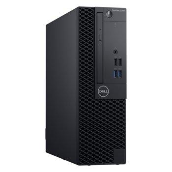 Настолен компютър Dell OptiPlex 3060 SFF (S053O3060SFFECAPU_UBU3-14), шестядрен Coffee Lake Intel Core i5-8400 2.8/4.0 GHz, 8GB DDR4, 128GB SSD, 4x USB 3.1, клавиатура и мишка, Linux image