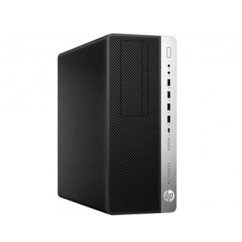 Настолен компютър HP EliteDesk 800 G5 (7PE86EA), шестядрен Coffee Lake Intel Core i5-9500 3.0/4.4 GHz, 8GB DDR4, 256GB SSD, 2x USB 3.1 Gen 2, клавиатура и мишка, Windows 10 Pro  image