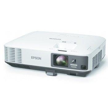 Проектор Epson EB-2255U, 3LCD, WUXGA (1920 x 1200), 15,000:1, 5,000lumen, 1x DisplayPort, 2x HDMI, 2x VGA, 1x RJ45, Miracast, Intel WiDi, бял image