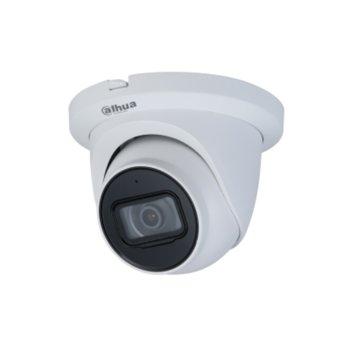 IP камера Dahua IPC-HDW2231T-AS-0360B-S2, куполна камера, 2MP Mpix(1920x1080@25FPS), 2.8mm обектив, H.265+/H.265/H.264, IR осветеност (до 30 м.), външна IP67 защита от вода, LAN, PoE, вграден микрофон, MicroSD 256 GB слот image