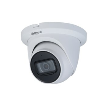 IP камера Dahua IPC-HDW2231T-AS-0360B-S2, куполна камера, 2MP Mpix(1920x1080@25FPS), 3.6mm обектив, H.265(+), H.264(+), MJPEG, IR осветеност (до 30 м.), външна IP67 защита от вода, LAN, PoE, вграден микрофон, MicroSD слот image