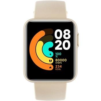"Смарт часовник Xiaomi Mi Watch Lite, 1.4"" (3.56 см) TFT сензорен дисплей, Fitness Tracking, 5ATM, до 9 дни живот на батерията, бежов image"