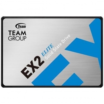 "Памет SSD 512GB, Team Group Elite EX2, SATA 6Gb/s, 2.5""(6.35 cm), скорост на четене 550 MB/s, скорост на запис 520 MB/s image"