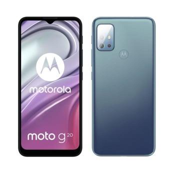 "Смартфон Motorola MOTO G20 (син), поддържа 2 SIM карти, 6.5"" (16.51 cm)IPS 90Hz дисплей, осемядрен Unisoc T700 1.8 GHz, 4GB RAM, 128GB Flash памет (+microSD слот), 48.0 + 8.0 + 2.0 + 2.0 & 13.0 MPix камера, Android, 200g image"
