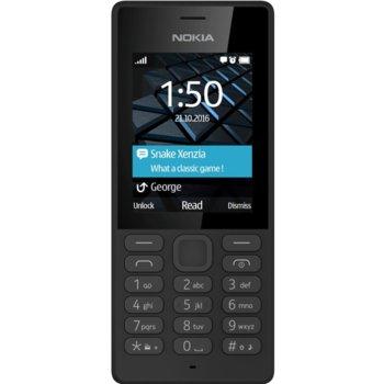 "GSM Nokia 150 (черен), поддържа 2 Sim карти, 2.4"" (6.096 cm) TFT Display, (+microSD слот), 0.3 Mpix camera, 81g image"
