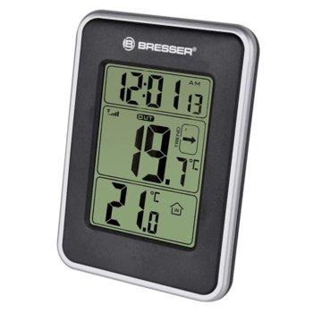 Електронна метеостанция Bresser Temeo, безжичен сензор за измерване на температурата и влажността на въздуха, черна image