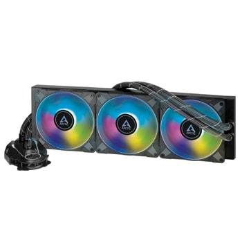 Водно охлаждане за процесор Arctic Freezer II A-RGB 420mm, съвместимост със сокети Intel 1200/115X/2011-3/2066 & AMD AM4 image