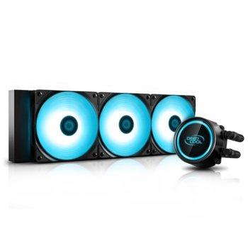Водно охлаждане за процесор DeepCool GAMMAXX L360 v2 RGB, съвместимост със Intel LGA20XX/LGA1366/LGA115X & AMD AM4/AM3+/AM3/AM2+/AM2/FM2+/FM2/FM1 image