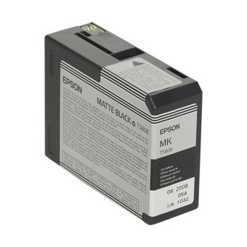 ГЛАВА ЗА EPSON Stylus Pro 3800 - T5808 - Matt Black - P№ C13T580800 - 80 ml image