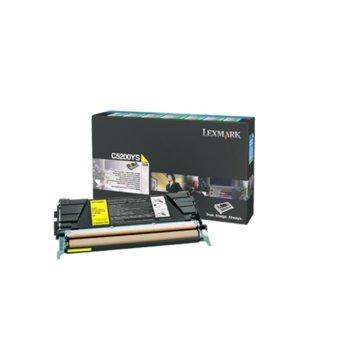 Касета за Lexmark C520, C530 series - PN: C5200YS - Yellow - заб.: 1 500k image