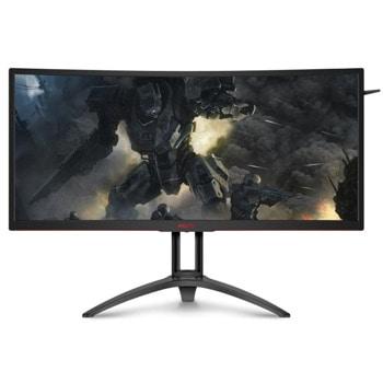 """Монитор AOC AG352UCG6, 35""""(88.90 cm) MVA панел, WQHD, 4ms, 2500 :1, 300cd/m2, HDMI, DisplayPort, черен image"""