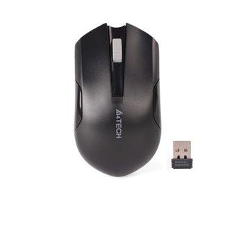 Мишка A4Tech G3-200NS WL, оптична (1000 DPI), безжична, USB, черна image