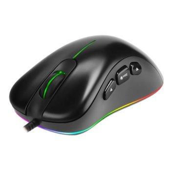 Мишка Marvo G954 с подарък подложка за мишка Marvo G5 - S, оптична (10000dpi), 7 бутона, USB, гейминг, черна image