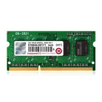 Памет 4GB DDR3 1600MHz, SODIMM, Transcend, 1.5V image