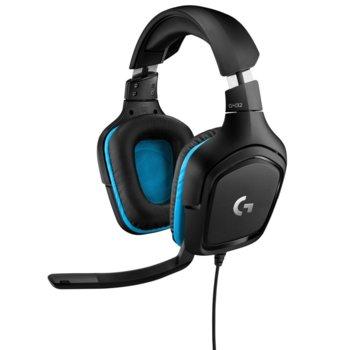 Слушалки Logitech G432, микрофон, гейминг, 7.1 Surround Sound, черни image