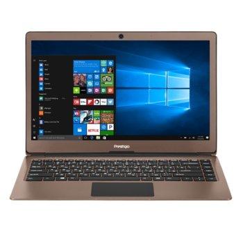 "Лаптоп Prestigio SmartBook 133S (PSB133S01ZFP_DB_BG)(кафяв), двуядрен Apollo Lake Intel Celeron N3350 1.1/2.4 GHz, 13.3"" (33.78 cm) Full HD IPS Anti-Glare Display, (mHDMI), 3GB DDR3L, 32GB SSD, Windows 10, 1.4 kg image"