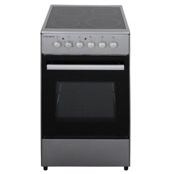 Готварска печка Crown CEC-5060V IX, енергиен клас A, 4 нагревателни зони, 47л обем, 5 функции, 6 степени на нагряване на котлоните, индикатор за остатъчна топлина, инокс image