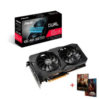 Видео карта AMD Radeon RX 5500 XT с подарък игра Godfall, 4GB, Asus Dual EVO OC Edition, PCI-E 4.0, GDDR6, 128-bit, 3x DisplayPort, HDMI image