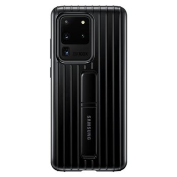 Калъф за Samsung Galaxy S20 Ultra, хибриден, Samsung Protective Standing Cover EF-RG988CB, удароустойчив, с поставка, черен image