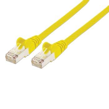 Пач кабел Intellinet, FTP, Cat.5e, 5m, жълт image
