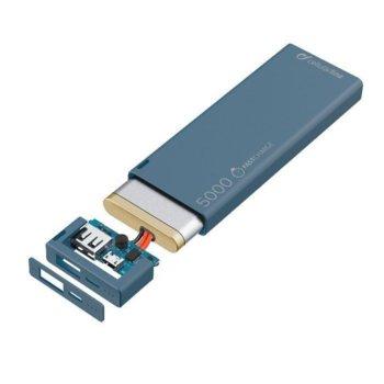 Външна батерия/power bank Cellular Line FreePower Slim, 5000 mAh, синя, 1x USB Type A, зарежда се бързо и ефективно image