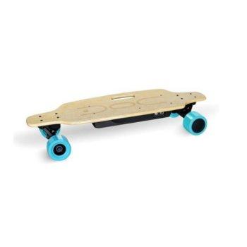 Електрически скейтборд Nilox DOC Skateboard, до 12км/ч скорост, 20км макс. пробег, до 100кг, 200W двигател, джойстик за управление, небесно син image
