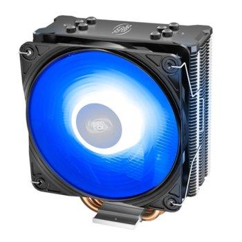 Охлаждане за процесор DeepCool GAMMAXX GTE V2, съвместимост с Intel LGA 1151/1150/1155/1366 & AMD AM4/FM2+/FM2/FM1/AM3+/AM3/AM2+/AM2, RGB подсветка image