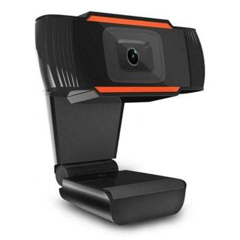 Уеб камера Kisonli hd-1085, микрофон, 1920x1080 / 30fps, автоматичен баланс на бялото, автоматичен фокус, USB, черна image