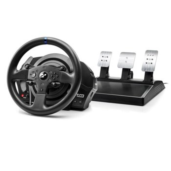 Волан с педали Thrustmaster Racing T300 RS GT, 1080° градусово въртене, Force Feedback реализъм, Quick Release система, метални педали, за PC/PS3/PS4 image