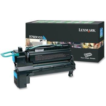 Laser Toner Lexmark for X792 - Cyan 20 000 pages image