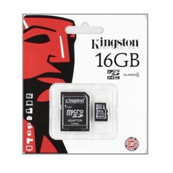 16GB microSDHC Kingston adapter Class4 product