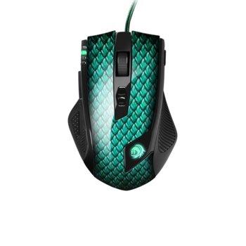 Мишка Sharkoon Drakonia, лазерна (5000 dpi), 11 програмируеми бутона, черна/зелена image