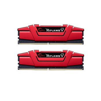 Памет 16GB (2x8GB) DDR4 3200MHz, G.SKILL Ripjaws V Red, F4-3200C15D-16GVR, 1.35V image