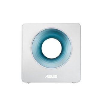 Рутер Asus Blue Cave, 2600Mbps, 2.4GHz(800 Mbps)/5GHz(1734Mbps), Wireless AC, 4x LAN 10/100/1000 BaseT, 1x WAN 10/100/1000 BaseT, 1x USB 3.0, 4x вътрешни антени image
