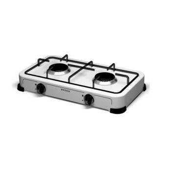Газов котлон Brock GS 002 W, 2 нагревателни зони, механично управление, бял image