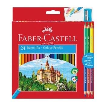 Цветен молив Faber-Castell Замък 24 + 6 острилка  product