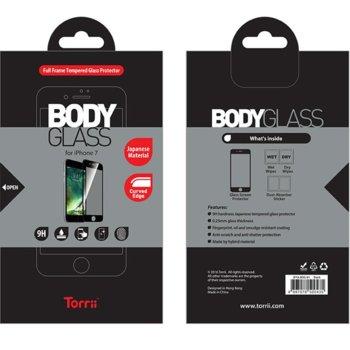 Протектор от закалено стъкло /Tempered Glass/, Torii IP7A-BDG-01, за iPhone 7/8, черна рамка image