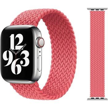 Каишка Sdesign Braided SoloLoop Band (SDLOOP-BPK-44), текстилна, за смарт часовник Apple Watch 42/44mm, розова image
