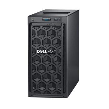 Сървър Dell PowerEdge T140 (PET140WCISM02), четириядрен Coffee Lake Intel Xeon E-2224 3.4/4.6 GHz, 16GB DDR4 UDIMM, 1TB HDD, 1x 1GbE, без ОС  image