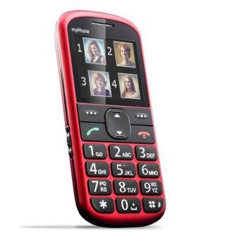 "GSM MyPhone Halo 2 (червен), 2.2""(5.58cm) дисплей, 0.3 Mpix camera, Micro SD, Бутон SOS, фенерче, календар, хендсфрий, аларма, калкулатор, FM радио, 85g image"