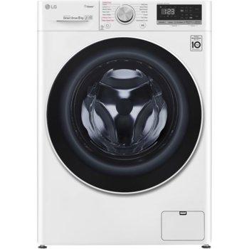 Перална машина LG F4WN408S0, клас A+++, 8 кг. капацитет, 1400 оборота, 14 програми, свободностояща, 9 бр. допълнителни опции, 60 cm ширина, бяла image
