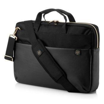 """Чанта за лаптоп HP 15.6 Duotone Gold, 15.6"""" (39.62 cm), черна image"""