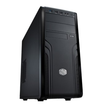 Кутия CoolerMaster Force 500, ATX/Micro ATX, черна, USB 3.0, без захранване image