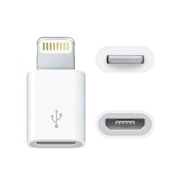 Преходник Micro USB (ж) към Lightning(м), Бял image