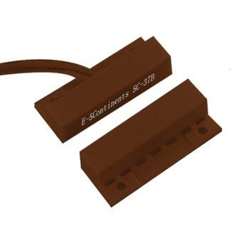 Магнитен датчик (мук) правоъгълен за повърхностен монтаж, ABS материал, кафяв image