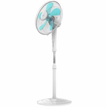 Настолен вентилатор Cecotec ForceSilence 530 Power Connected, 3 скорости, PowerFlow технология, ForceSilence, SmartControl, LED дисплей, 50 W, бял image
